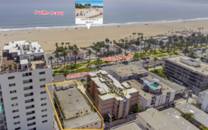 Aerial view of apartment complex for sale at 1045 Ocean Ave, Santa Monica, CA 90403