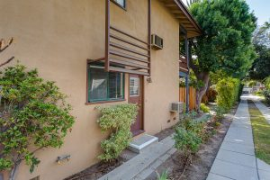 Side door to 6 unit apartment property for sale in Pasadena, CA